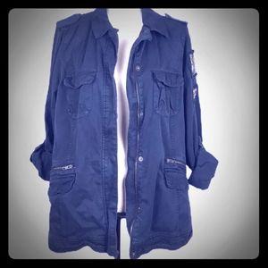 Torrid womans plus size military style jacket